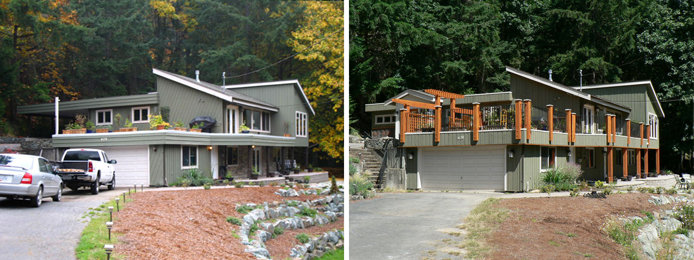exterior deck and accent renovation: before and after