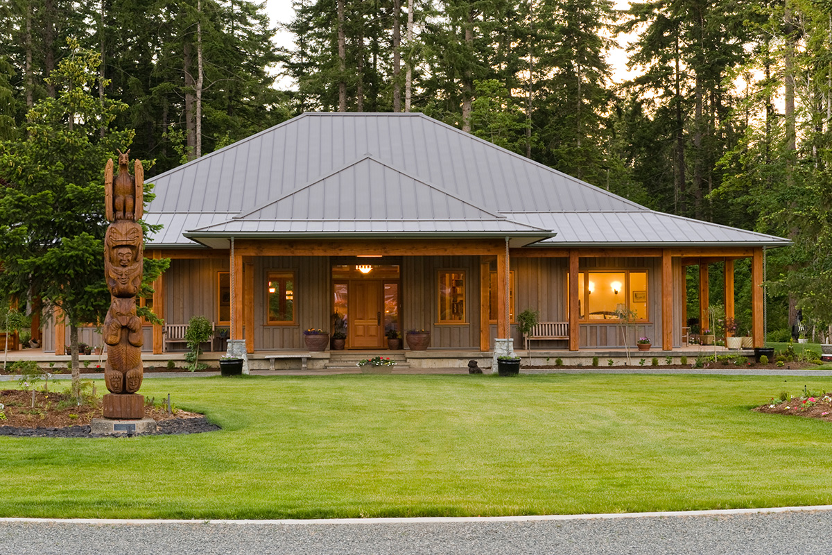 North cowichan custom david coulson design for West coast home design
