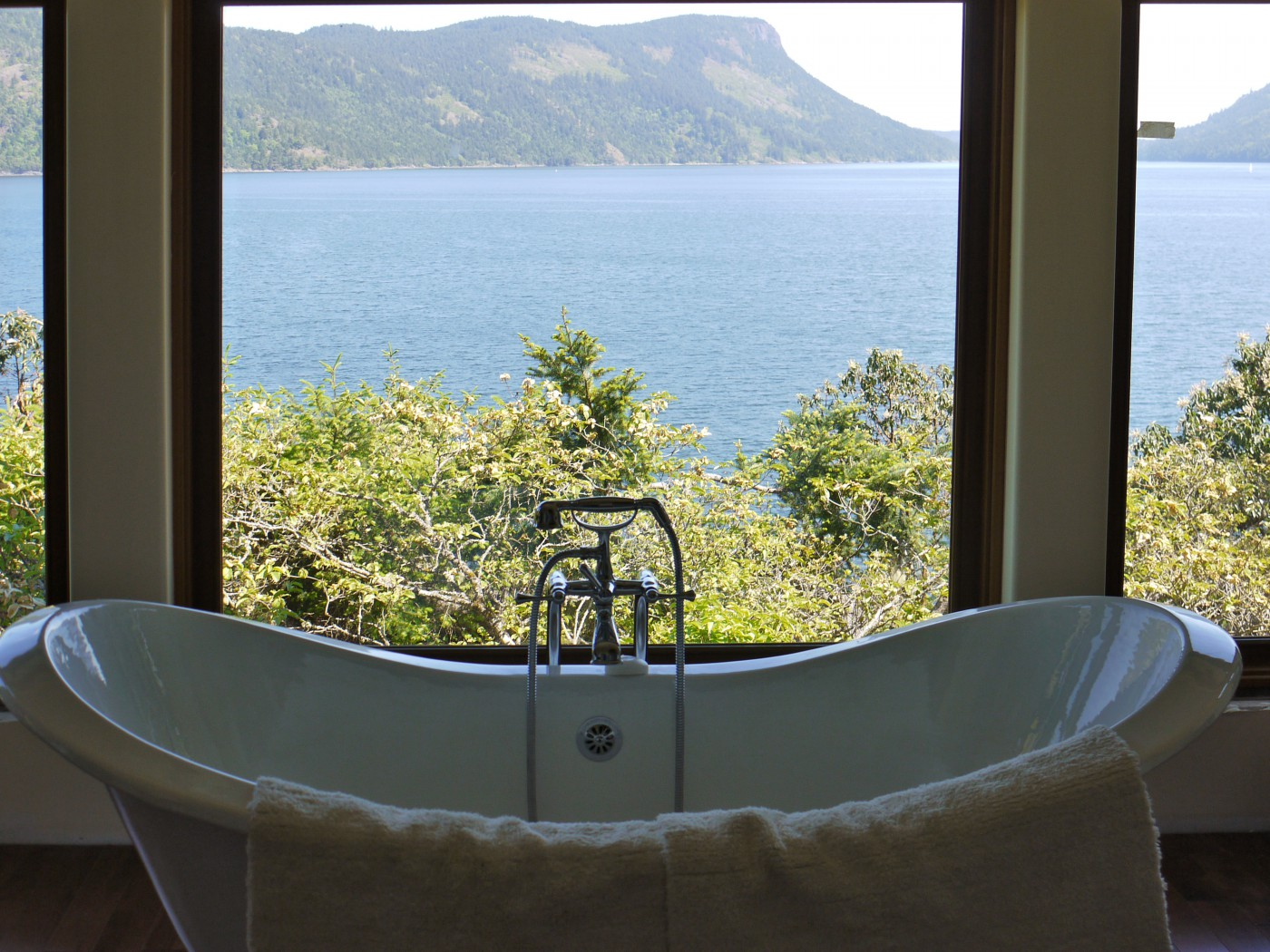 view from bathtub