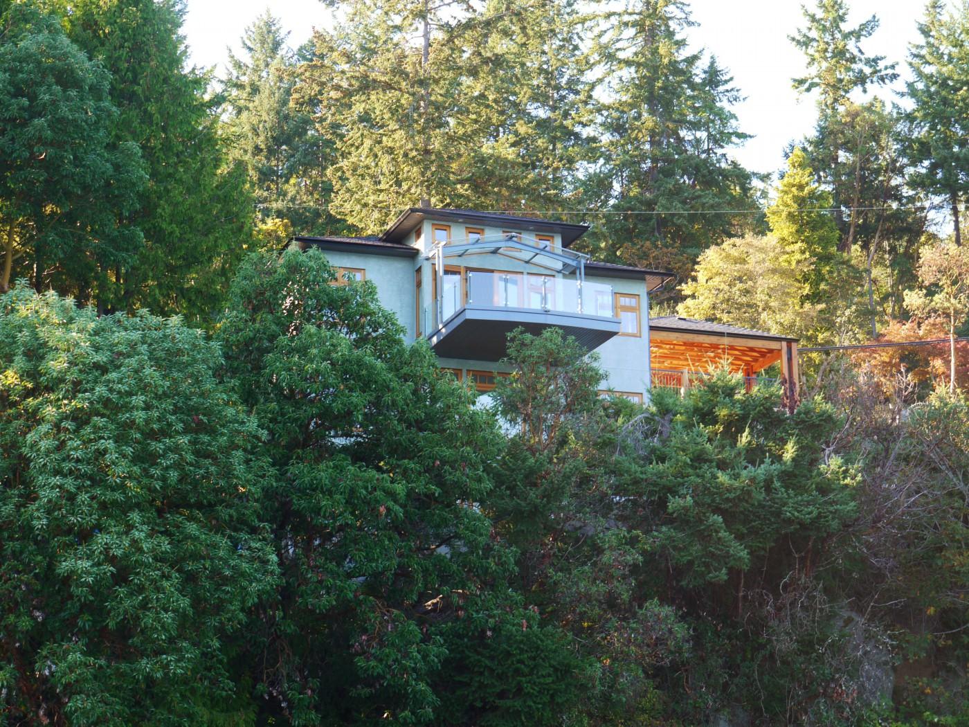 house on cliffside