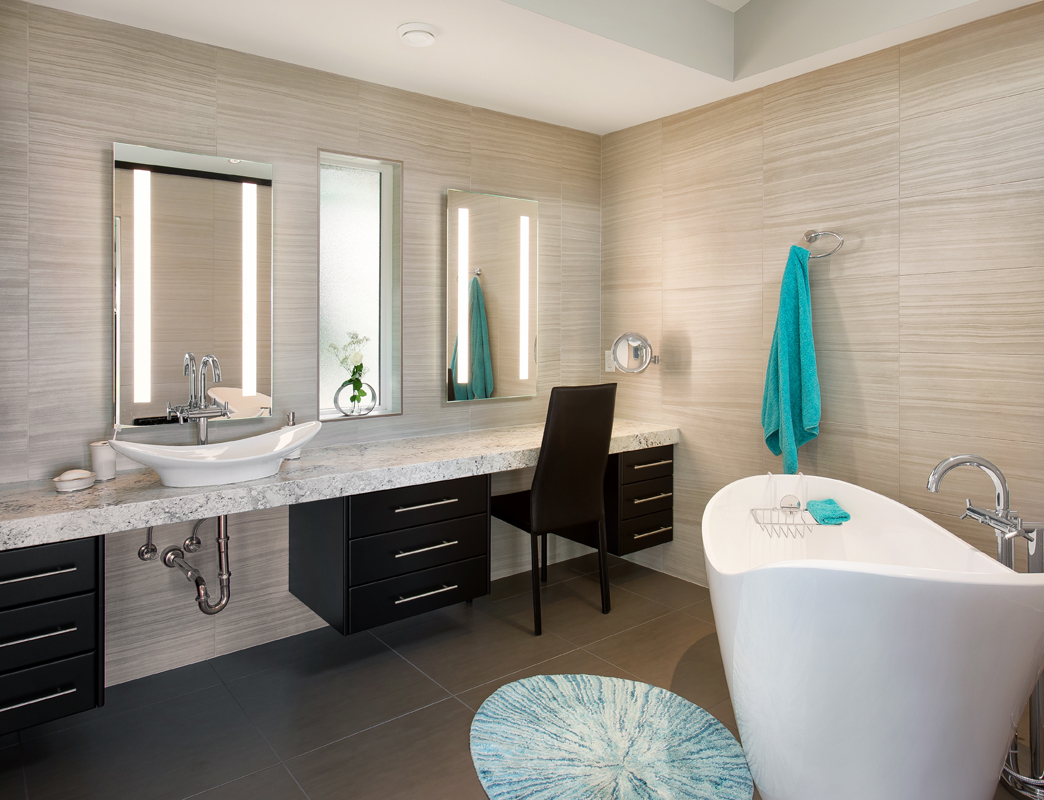 ensuite bathroom - Oceanfront Renovation
