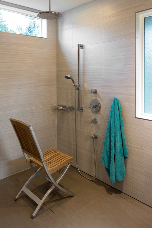 walk in shower - Oceanfront Renovation