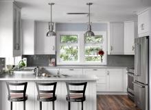 grey and white kitchen