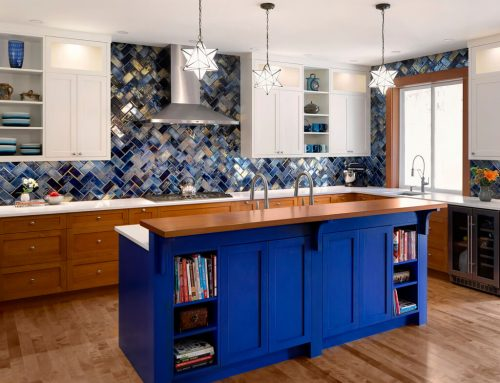 Bold & Blue Kitchen