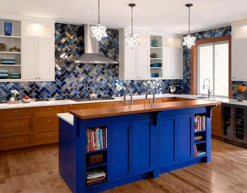 Bold & Blue Kitchen